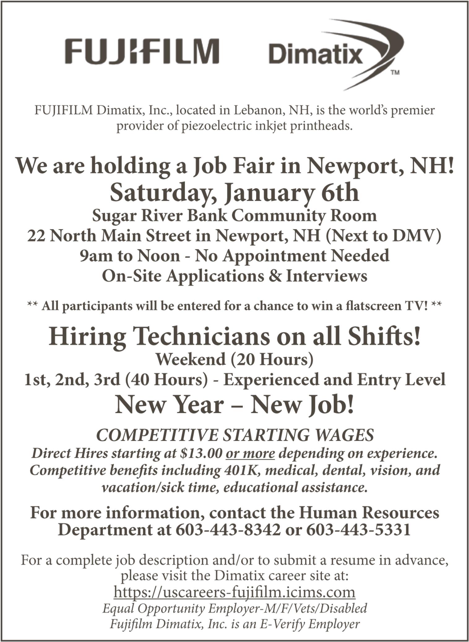 Fujifilm Dimatix, Inc. Job