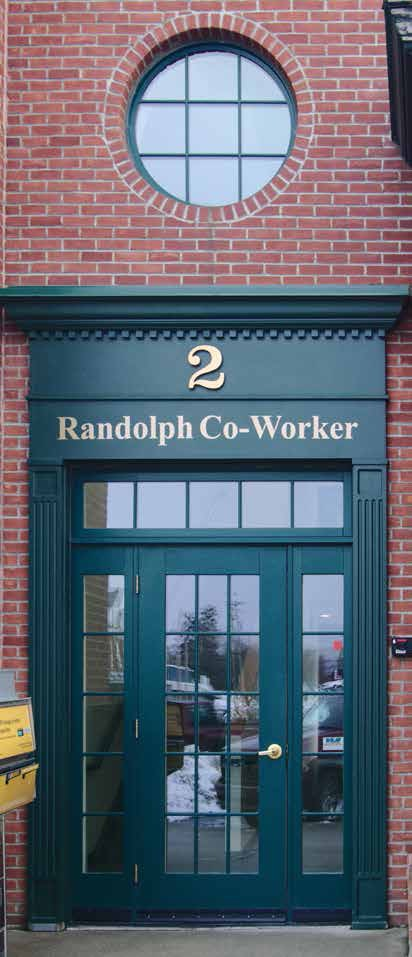 """The Randolph Co-Worker space, located at 2 South Main Street, features multiple office spaces that are leased on a yearly basis by building owner Jesse """"Sam"""" Sammis. (Herald / Dylan Kelley)"""