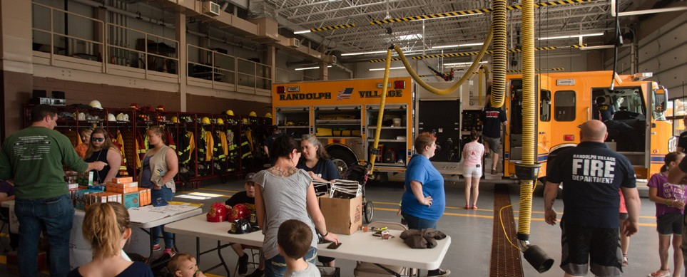 June Showing off the recently completed firehouse, the Randolph Village Fire Department hosted an open house. ( Herald / Tim Calabro)